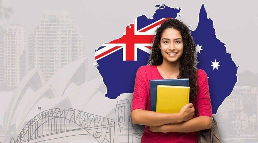 Female student holding book at one of the top Australian universities