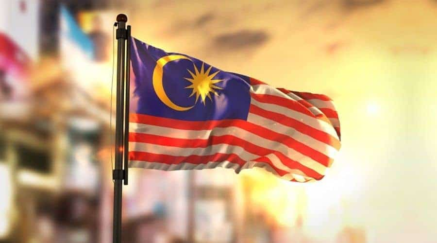 Flag of Malaysia reflection opportunity to study at universities in Malaysia