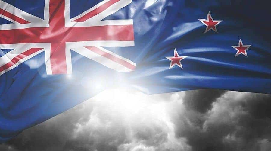Flag of New Zealand reflection opportunity to study at universities in New zealand