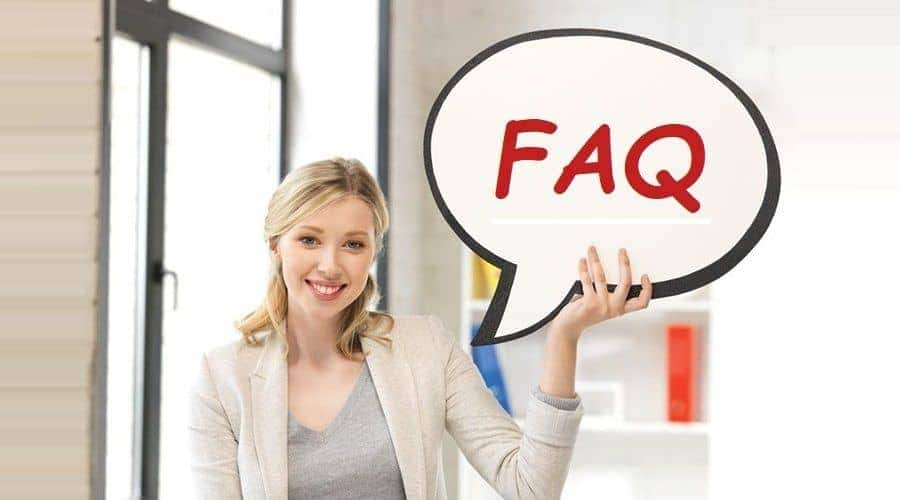 UniAdmission counselor holding student FAQ bubble