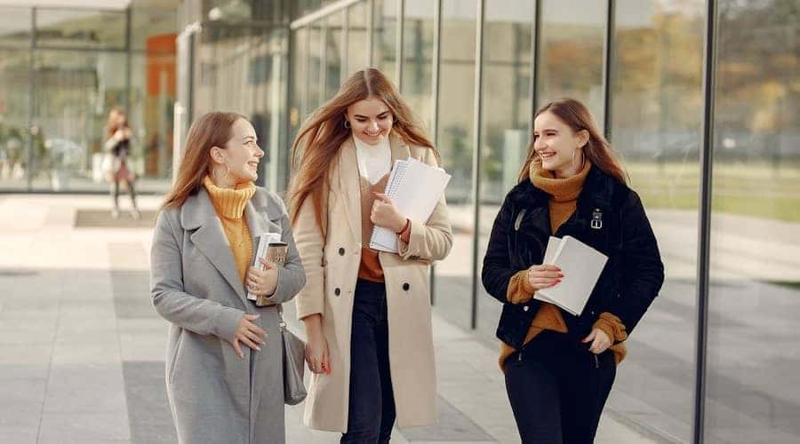 3 female staff after interview for UAE jobs in Dubai