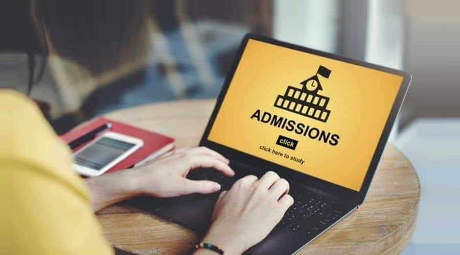 UniAdmission student counselor completing the online university admission process