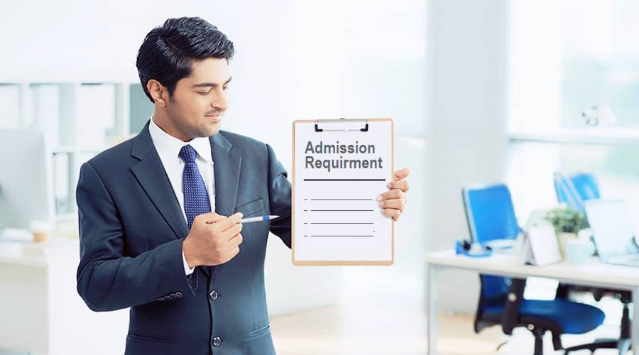 male student counselor holding document with list of university admission requirements